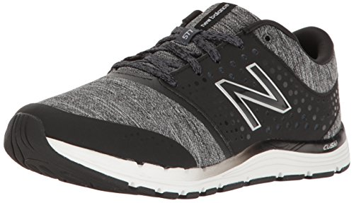 New Balance Women's 577 V4 Cross Trainer, Black/Heather, 9 W US