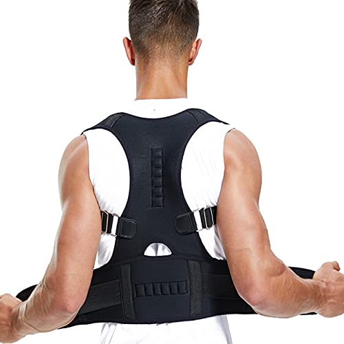 New Orleans Mall Magnetic Posture Corrector Back Brace Correct Su to free