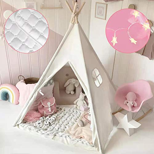 Kids Teepee Tent with Mat & Light...