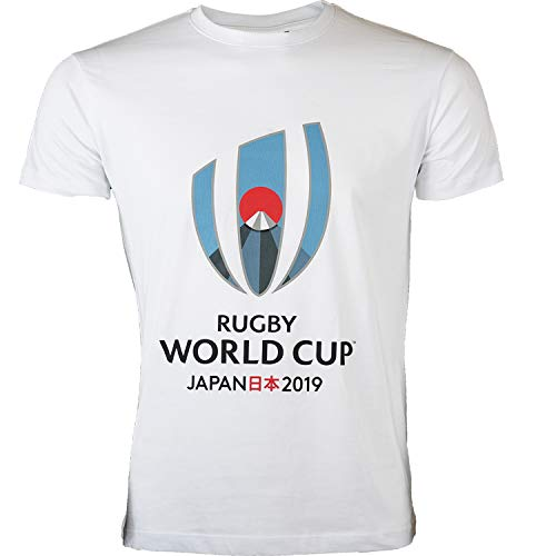 T-Shirt Rugby World Cup 2019, offizielle Kollektion Rugby World Cup XXL weiß