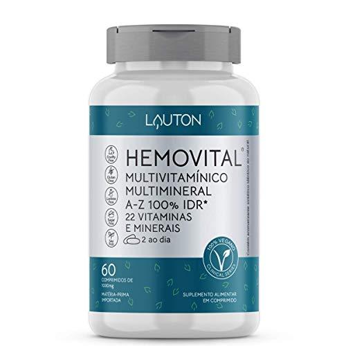 Hemovital Polivitaminico 22 vitaminas e minerais A Z 60 Tabs vegano - Lauton Nutrition
