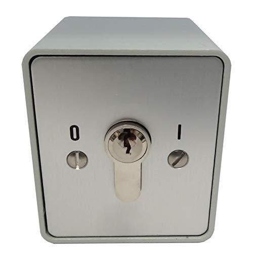 BAUER - Schlüsselschalter auf Putz mit PHZ, 1 seitig,