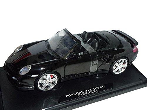 Motormax Porsche 911 997 Turbo Cabrio Schwarz 2004-2012 1/18 Modellauto Modell Auto