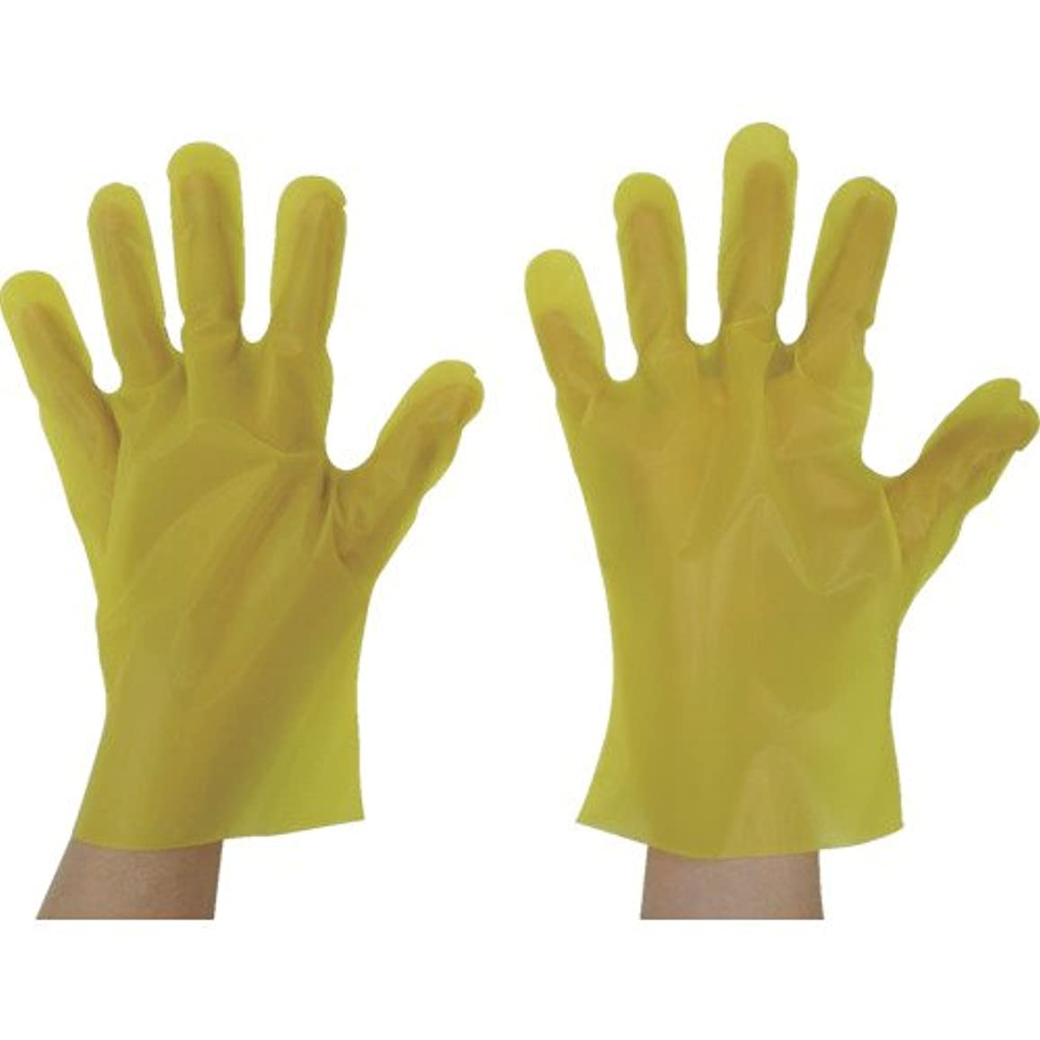 採用ドック東京パック エンボス手袋五本絞りエコノミー化粧箱S イエロー YEK-S
