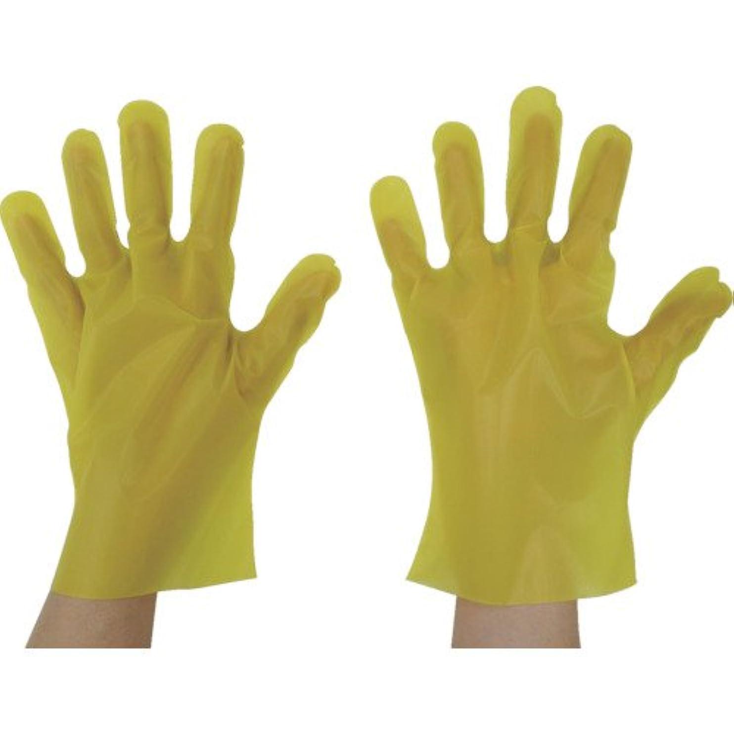アジア人自分自身比率東京パック エンボス手袋五本絞りエコノミー化粧箱M イエロー(入数:200枚) YEK-M