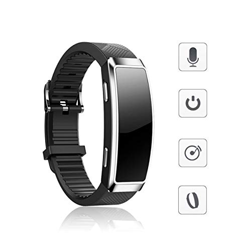 16GB Voice Recorder Wristband Bracelet BestRec Digital Audio Activated Recording Device for Lectures, Meetings, Class, Portable MP3 Player, Voice Recorder Watch Without Display Function, Silver Dial