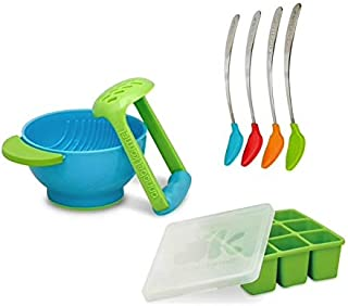 NUK Fresh Foods Mash and Serve Bowl Prepare and Feed Set (6-Pieces) Plus Includes 4 Sppoons and 9 Cube Freezer Tray
