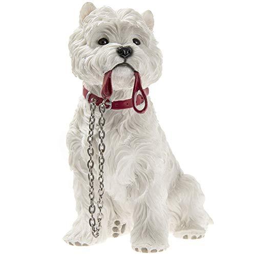 Lesser & Pavey Walkies Westie Dog Sitting Resin Figurine - 18cm