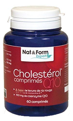 Cholestérol 60 Comprimés Levure De Riz Rouge + Coenzyme Q10