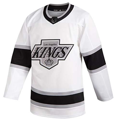 Adidas Los Angeles Kings - Maglia da uomo retrò Wordmark Heritage Authentic (54/X-Large), colore: Bianco