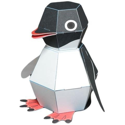 KAMIKARA Penguin POP Action Paper Craft kit by Haruki Nakamura