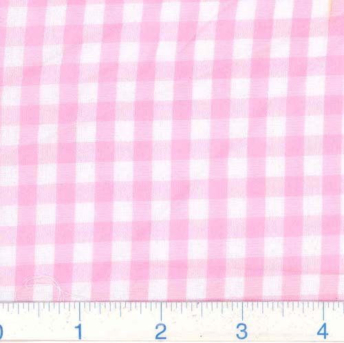 """Richcheck 60"""" Gingham Check 1/4"""" Pink, Fabric by the Yard"""