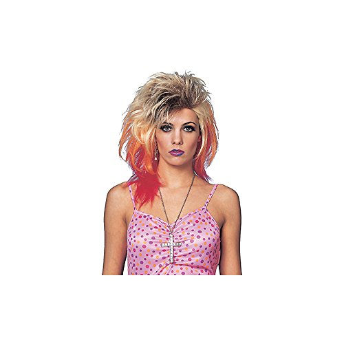 Franco American Novelty Company 80s Glam Wig Costume Accessory,White,One Size
