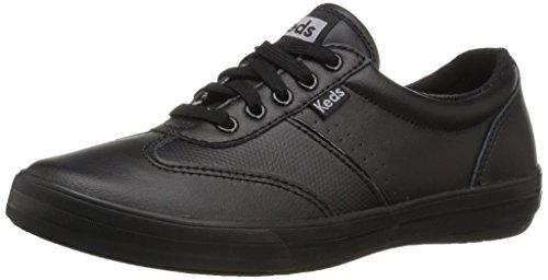 Keds Women's Craze Ii Leather Fashion Sneaker, Black/Black, 8.5 M US