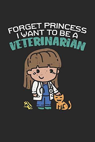 Forget Princess I Want To Be A Veterinarian: Vergiss Prinzessin, Ich Werde Tierärztin! Notizbuch / Tagebuch / Heft mit Karierten Seiten. Notizheft mit ... Planer für Termine oder To-Do-Liste.