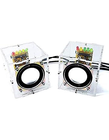 Tuneway Scatola di Altoparlanti Stereo Trasparente Elettronica Kit DIY Amplificatore Audio per EK1831