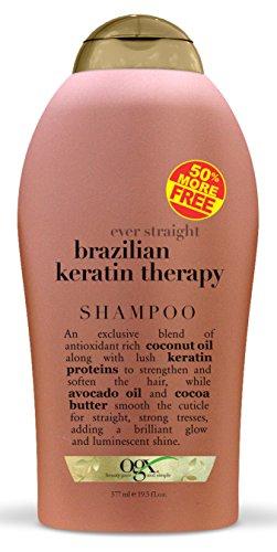 OGX Organix Brazilian Keratin Therapy Ever Straightening Shampoo 19.5 Ounce Size