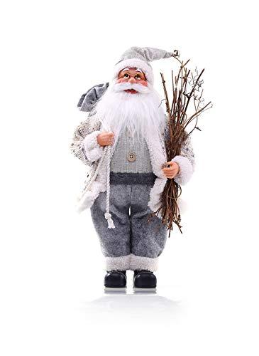 DecoKing 46227 Weihnachtsmann 30 cm Nikolaus Weihnachtsfigur Weihnachtsdeko Weihnachtsschmuck Weihnachten Nestor