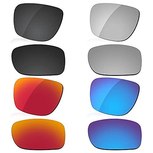LenzReborn Reemplazo de lente polarizada para gafas de sol Gannet Costa Del Mar - Más opciones, Negro oscuro + gris plateado + rojo fuego + azul hielo, Talla única