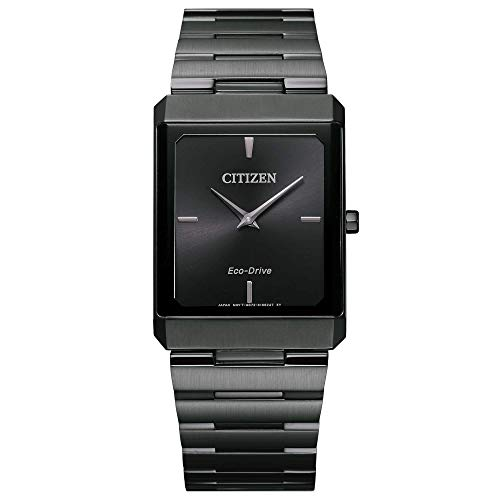 Citizen Eco-Drive Large Stiletto Black Ion-Plated Watch AR3107-57E