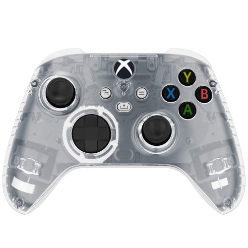 Transparent Clear Wireless Custom Controller for Xbox Series X Series S Xbox One (White Base)