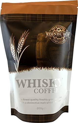Edinburgh Tea & Coffee Company, Whisky Flavored Ground Coffee, 8-Ounce Bags (Pack of 3)