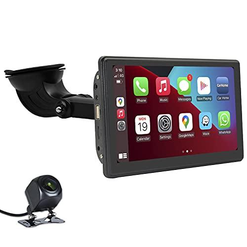 OledPro 7-Zoll-Touchscreen Wireless/ Wired CarPlay & Android Auto Portable Car Player GPS-Navigation von CarPlay für Car Truck Bluetooth AirPlay Car Stereo-Empfänger mit Rückfahrkamera