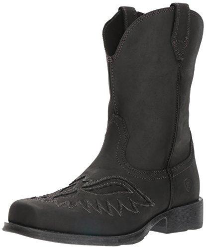 Ariat Men's Rambler Renegade Western Cowboy Boot, Basto Black, 13 D US