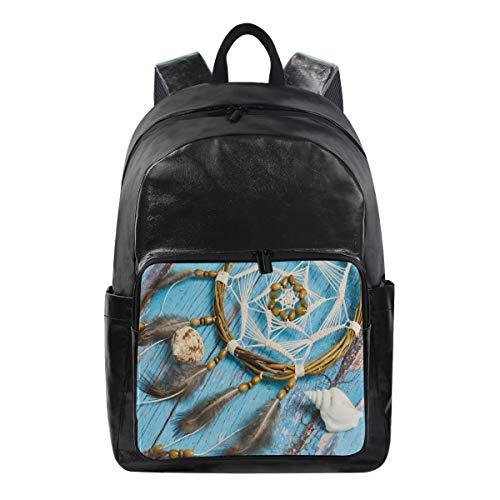 ISAOA Moda impermeable mochila escolar mochila para portátil, 15.6 pulgadas Náutica atrapasueños...