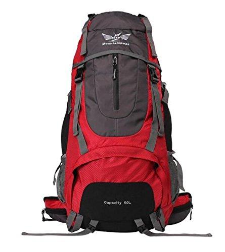 sac à dos randonnée sac Alpinisme gros voyage capacité épaule sac à dos sac hommes et les femmes de randonnée de camping 50L60L Sacs à dos de randonnée ( Couleur : Rouge , taille : 60 l )