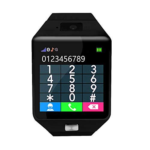 Lantro JS Reloj Inteligente para niños, con podómetro, calculadora, Llamada telefónica Bluetooth, Reloj Inteligente, con Alarma para niños, Estudiantes, electrónico(Black)