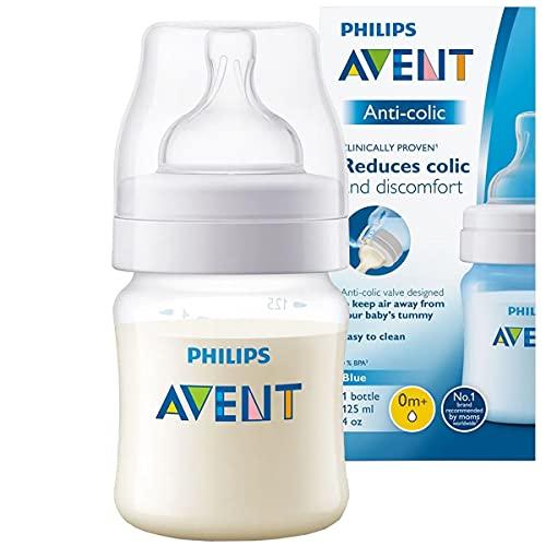 Mamadeira Anti-colic Transparente 125ml, Philips Avent, Transparente, 125 ml