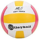 01 Voleibol, LEIJAIER PU Máquina de Coser Estándar Suave antiexplosión Voleibol, Competencia o Pelota de Entrenamiento recreativa para Todas Las Edades(Rosa)
