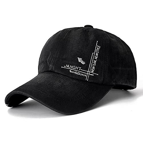 Diiya Cap Unisex Fashion Cap Classic Arrow Stickerei Baseball Cap Für Männer & Frauen Golf Sports Hat Cap Black