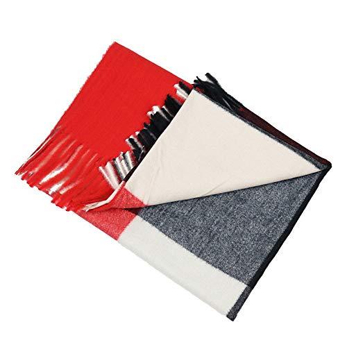 LXMT Damen gebürstet warmen Schal-Qualitäts-Kaschmir-Schal-Winter verdicken Plaid Faux-Kaschmir-Schal,Col2