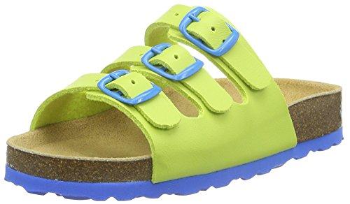 Lico BIOLINE KIDS Pantoletten Unisex Kinder, Lemon/ Blau, 34 EU
