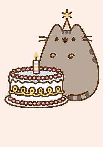 Pusheen The Cat - Birthday Cake - Blank Mini Card Notelet