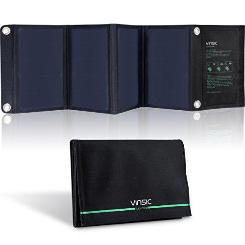 VINSIC Caricabatterie Solare Portatile, Pannello Solare...