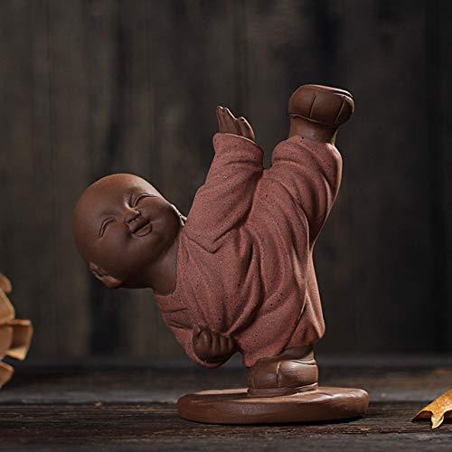 VFUM decoratieve woonaccessoires Dropship Chinese keramiek Boeddha beeld geschilderde keramiek thee huisdier wooncultuur decoratie groothandel kleine monnik