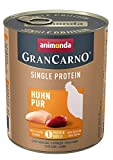 animonda Gran Carno adult Single Protein Hundefutter, Nassfutter für ausgewachsene Hunde, Huhn pur, 6 x 800 g, 6er Pack (6 x 0.8 kilograms)