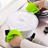 LOYAL EMPLE Silicone Pot Holder Heat Resistant, Oven Mitts Glove Cooking Pinch Grips Glove Hand Clip Convenient Pot Holder Kitchen Pot Holder Utensil Tool (Multicolor) – Set of 2(1 Pair)