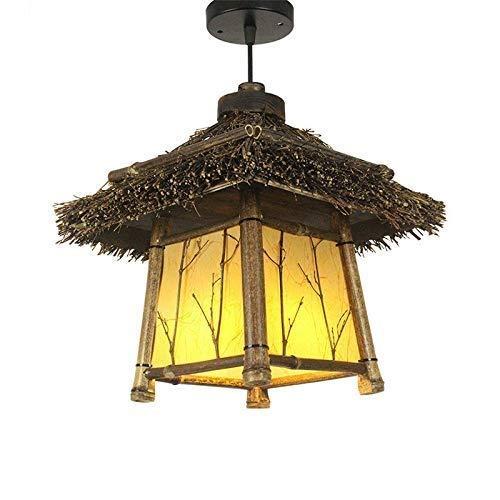 Zzaoxin Lámparas de araña Lámpara De Araña Antigua Vintage Restaurante Salón De Té Zen Bambú Iluminación Balcón Pasillo Granja Rural Viento Estilo Japonés