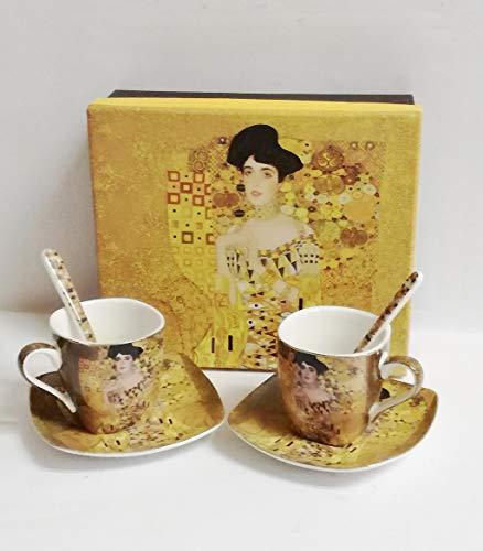 Atelier Harmony Gustav Klimt Espressotassen Adele 6teilig Porzellan
