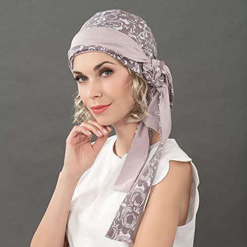 Kopfbedeckung - Ellen´s AMA - Ama print grey