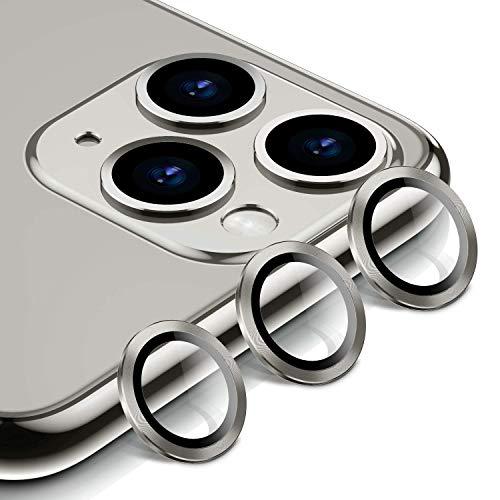 BANNIO Beschermer Gehard Glas Voor iPhone 11 Pro Max Camera Lens -Silver(3pack)