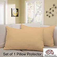 Rajasthan Crafts Cotton Waterproof and Dustproof Pillow Protector (18x28-inches, Brown)