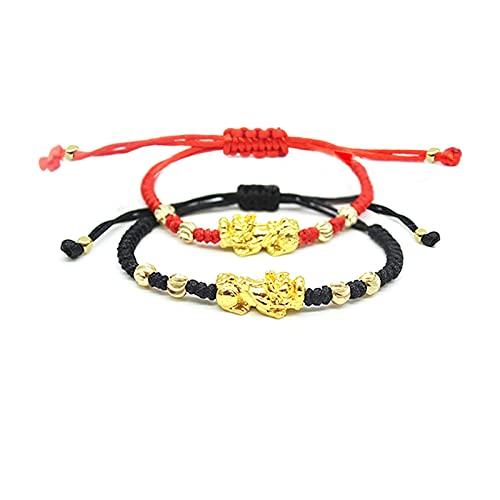 Feng Shui Black Obsidian Wealth Bracelet Pi Xiu Bracelet for Men Buddha Power Protection Bracelet Bring Luck And Prosperity(Feng Shui Bracelet B)