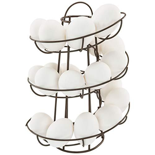 Egg Skelter Deluxe Modern Spiraling Dispenser Rack, Brown