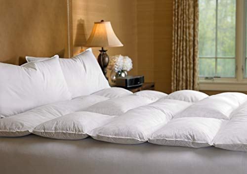 The Ritz-Carlton Featherbed - Hypoallergenic Feather Fill with Cotton Cover - King