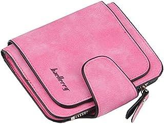 محفظة صغيرة بجيب للعملات المعدنية وفتحات للكروت للنساء